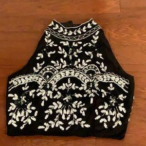 Tops - Lace & Beads Beaded Crop Top. U.K. 10
